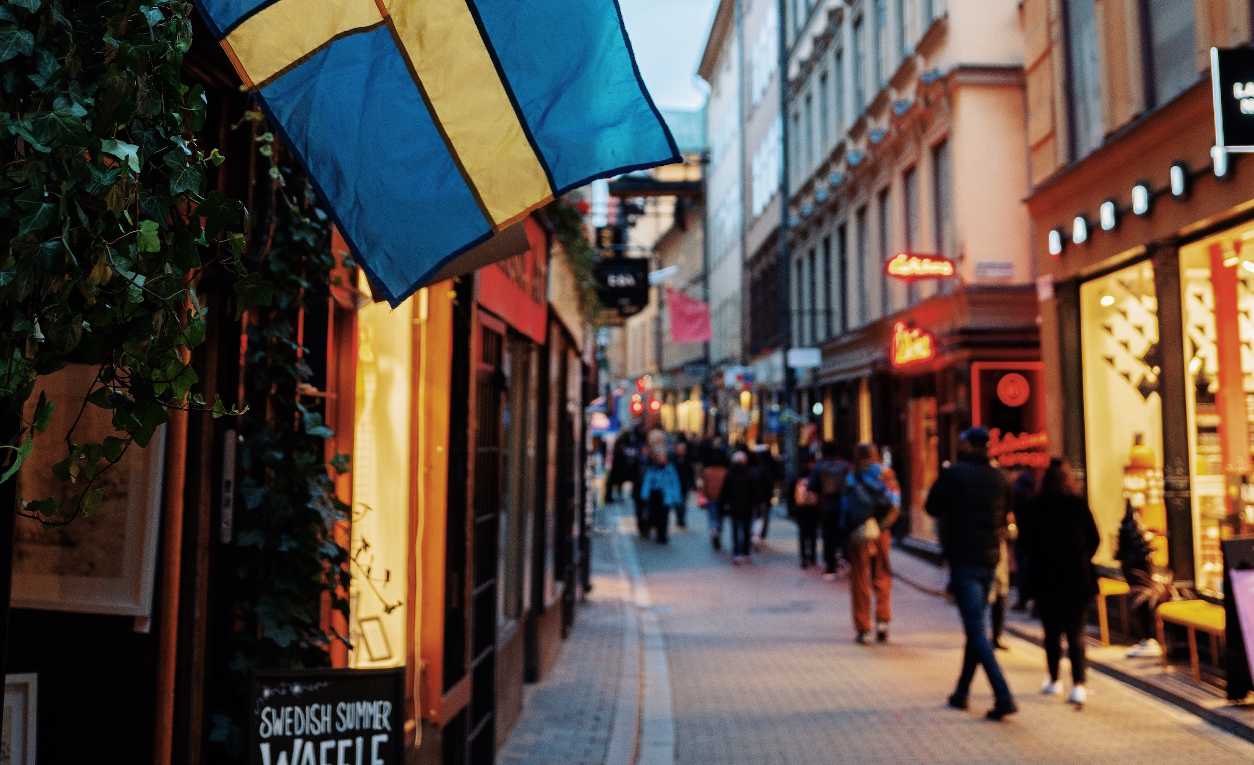 sweden shopping street