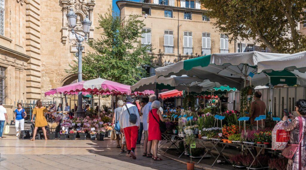 Aix-en-provence-flower-market